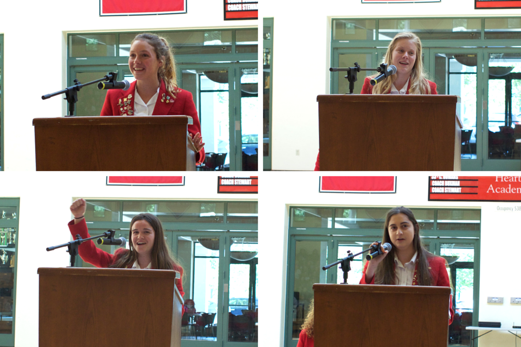 Student leaders speak at elections assembly