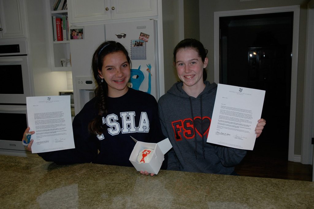 all girls' education acceptance letter