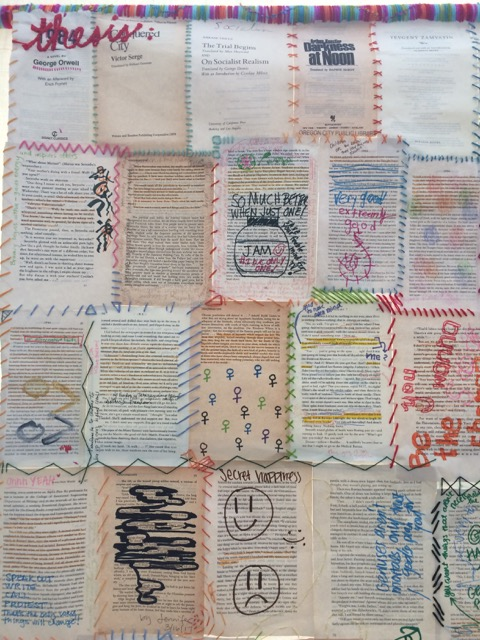 Natalie's tapestry of book pages