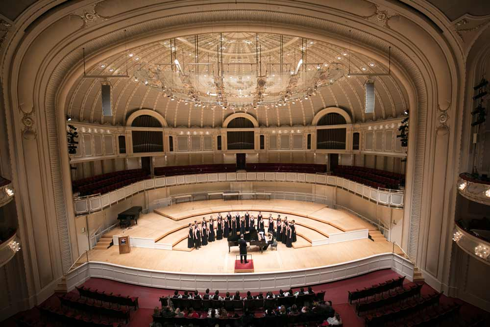 Vocum Veritas performs at the Chicago Symphony Hall